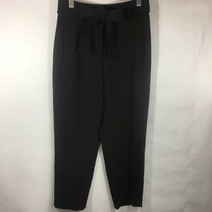 Wilfred Tie Front Pant Waist Black Jallade Cropped